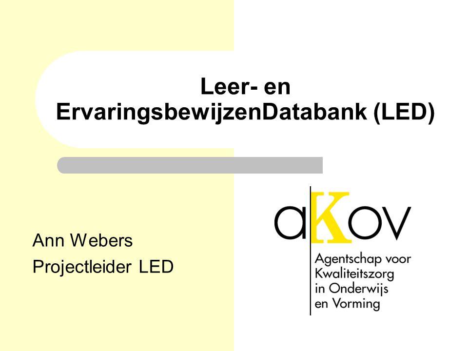 Leer- en ErvaringsbewijzenDatabank (LED)