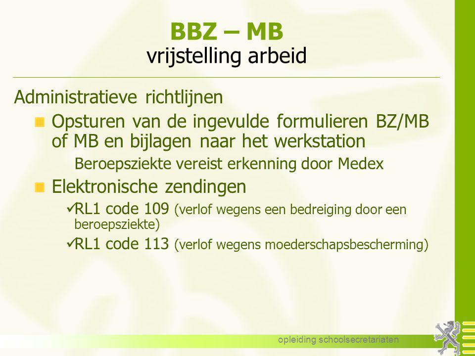 BBZ – MB vrijstelling arbeid