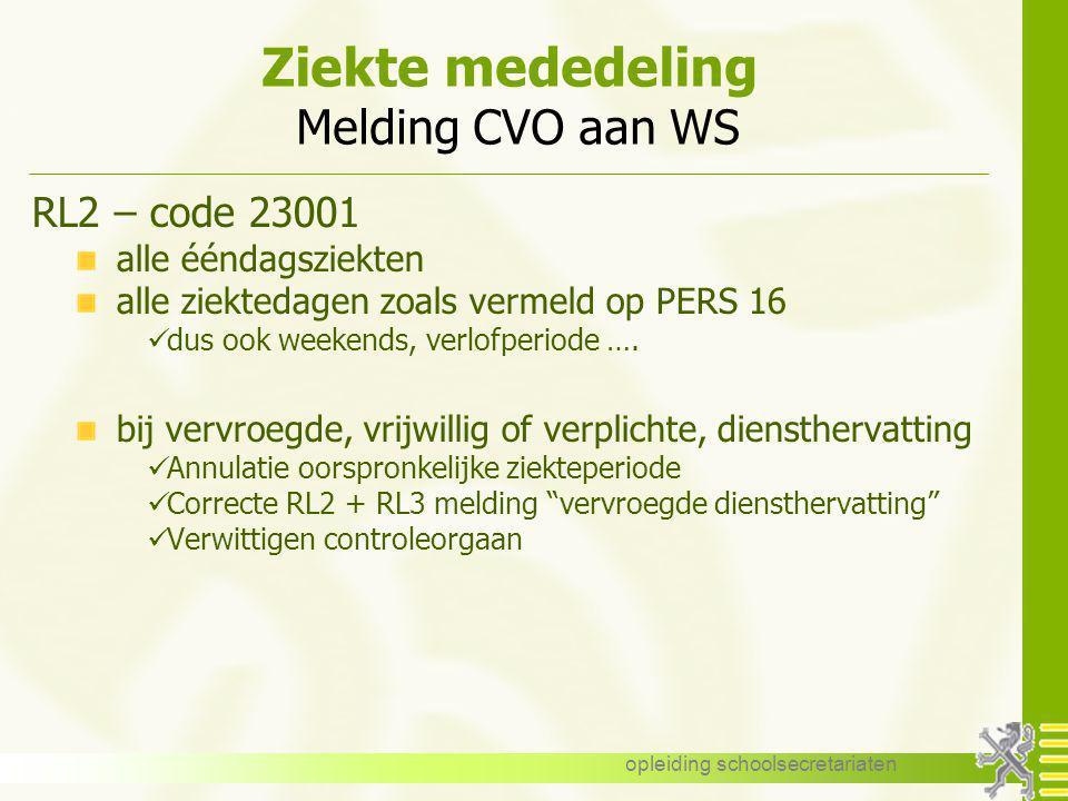 Ziekte mededeling Melding CVO aan WS