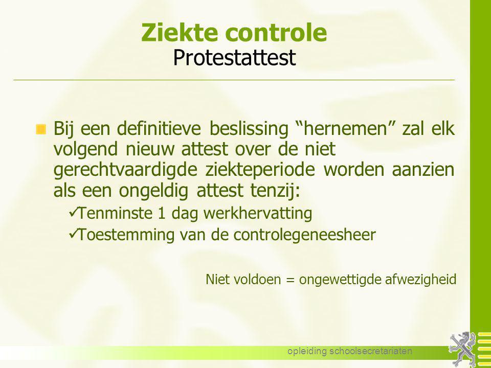 Ziekte controle Protestattest