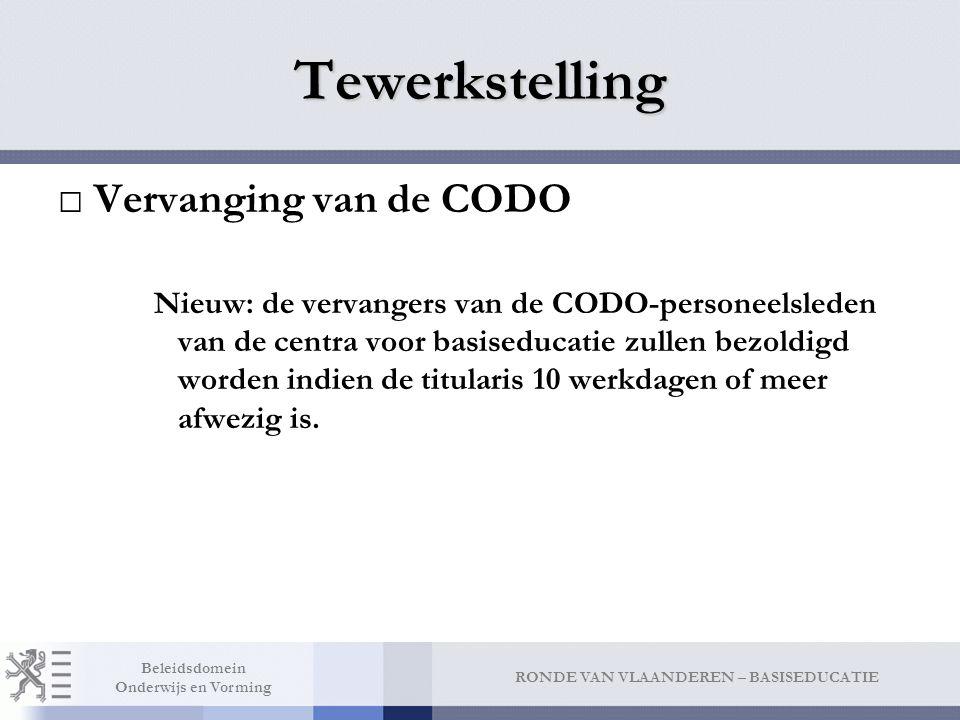 Tewerkstelling Switch tussen Vlaamse Gemeenschap (= CODO) en additioneel via schorsing van het contract met wederzijdse toestemming.