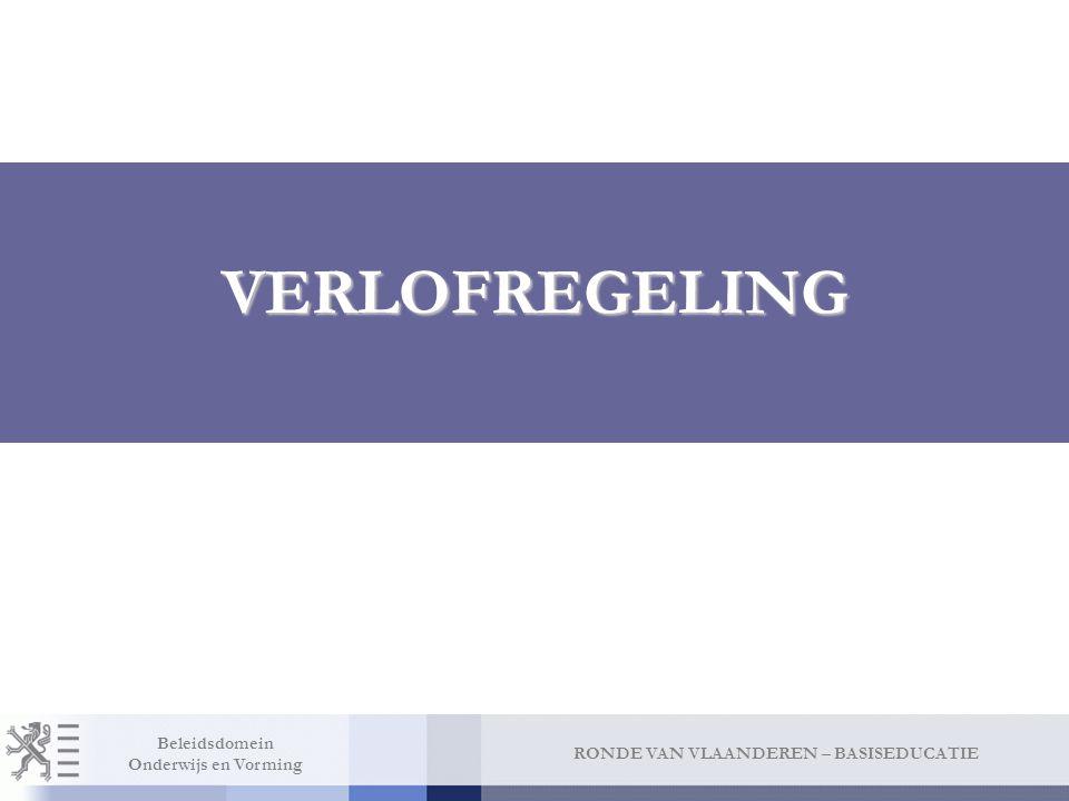 Verlofregeling Jaarlijks verlof: afgestemd op verlofregeling Vlaamse ambtenaren. 35 betaalde verlofdagen.