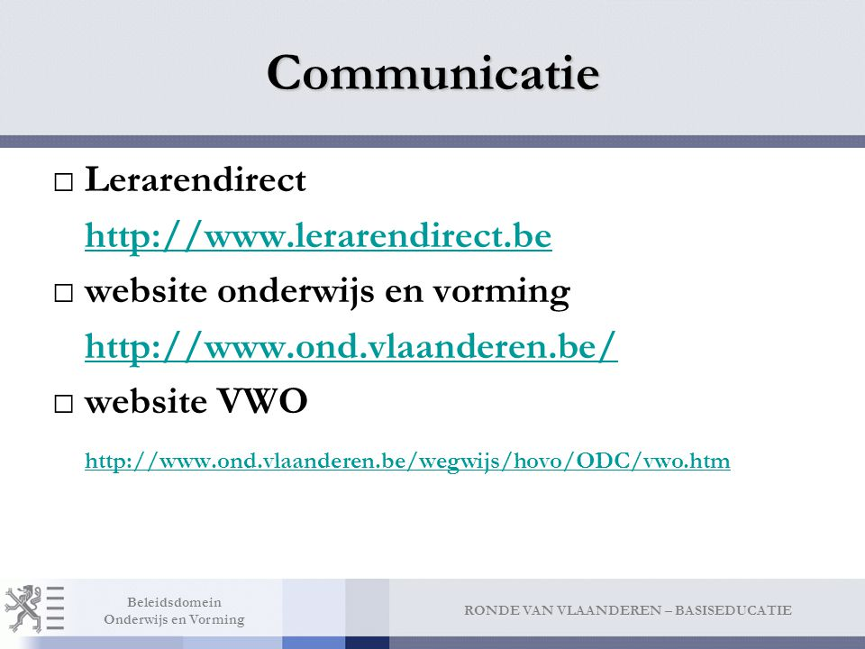 Communicatie Edulex Wat Attendering