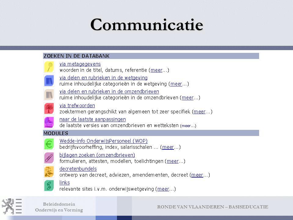 Communicatie Zoeken Via metagegevens