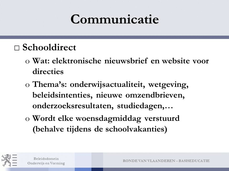 Communicatie Lerarendirect
