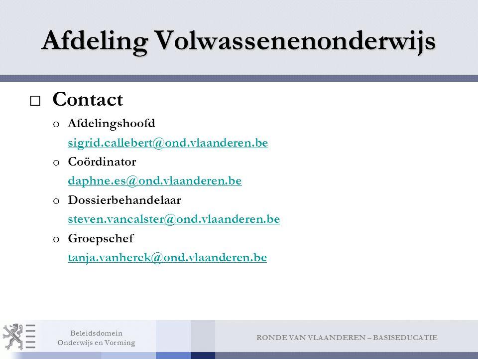 Contact Instellingen en leerlingen SO en VWO