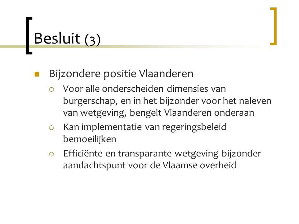 Besluit (3) Bijzondere positie Vlaanderen
