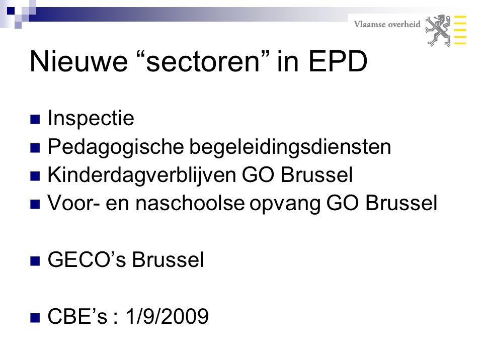 Nieuwe sectoren in EPD