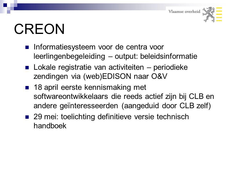 CREON Informatiesysteem voor de centra voor leerlingenbegeleiding – output: beleidsinformatie.