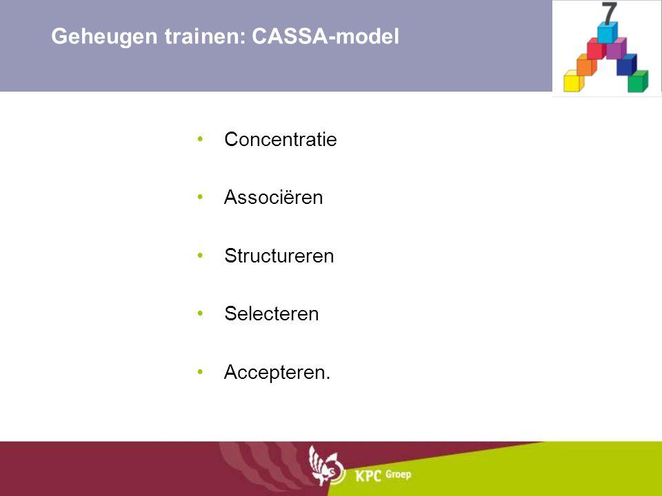 Geheugen trainen: CASSA-model
