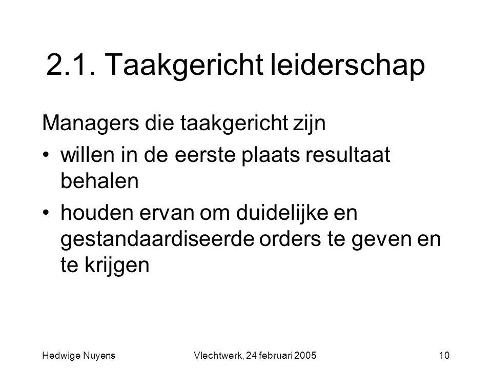 2.1. Taakgericht leiderschap