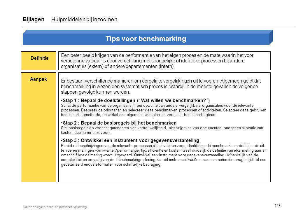 Tips voor benchmarking (vervolg)