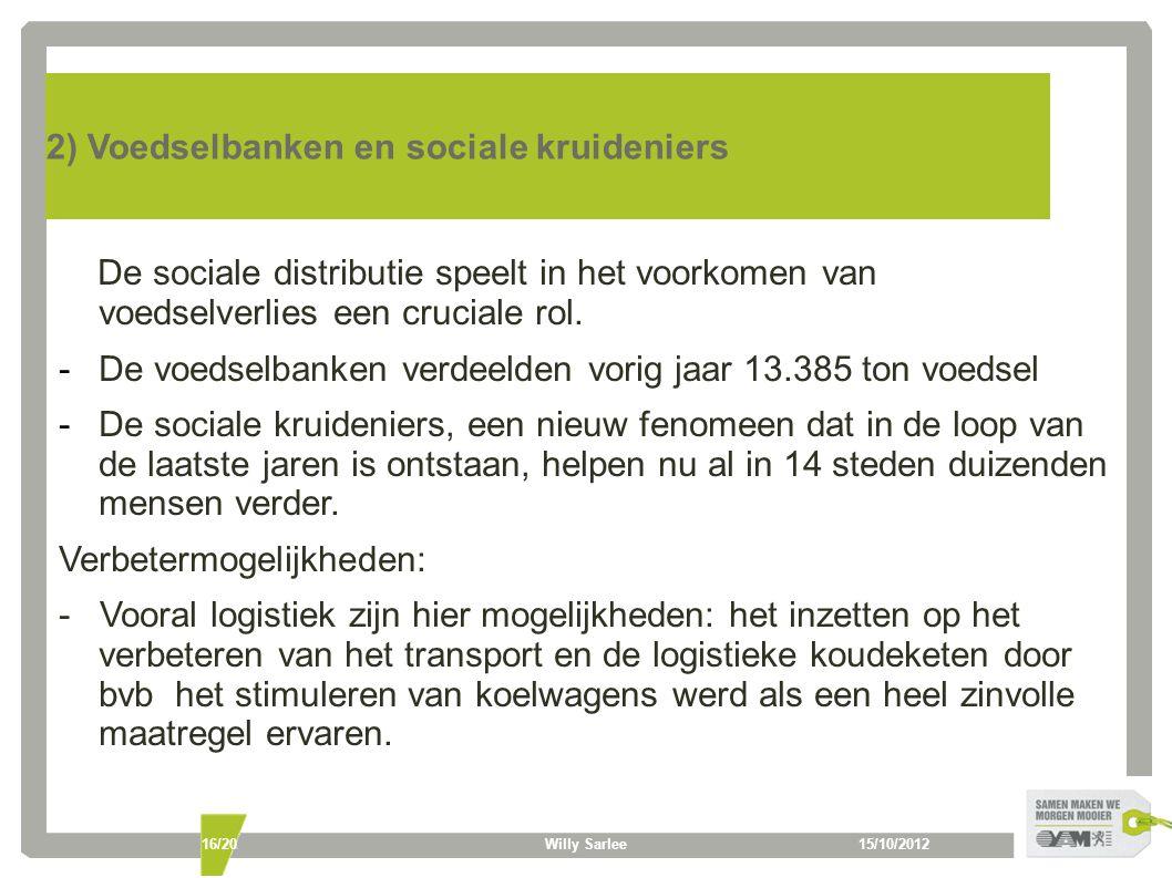 2) Voedselbanken en sociale kruideniers