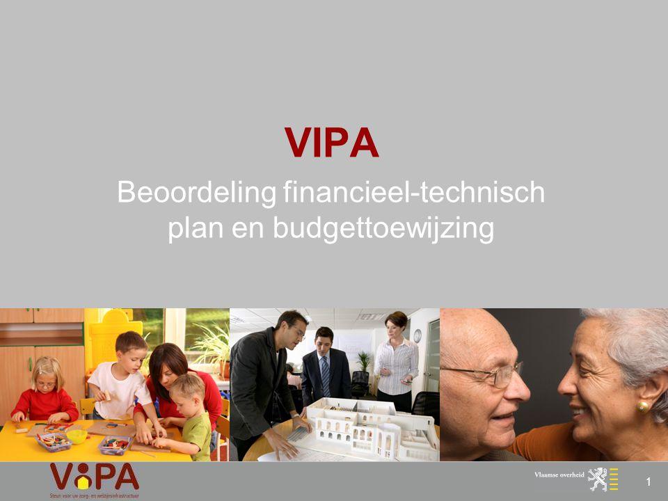 VIPA Beoordeling financieel-technisch plan en budgettoewijzing