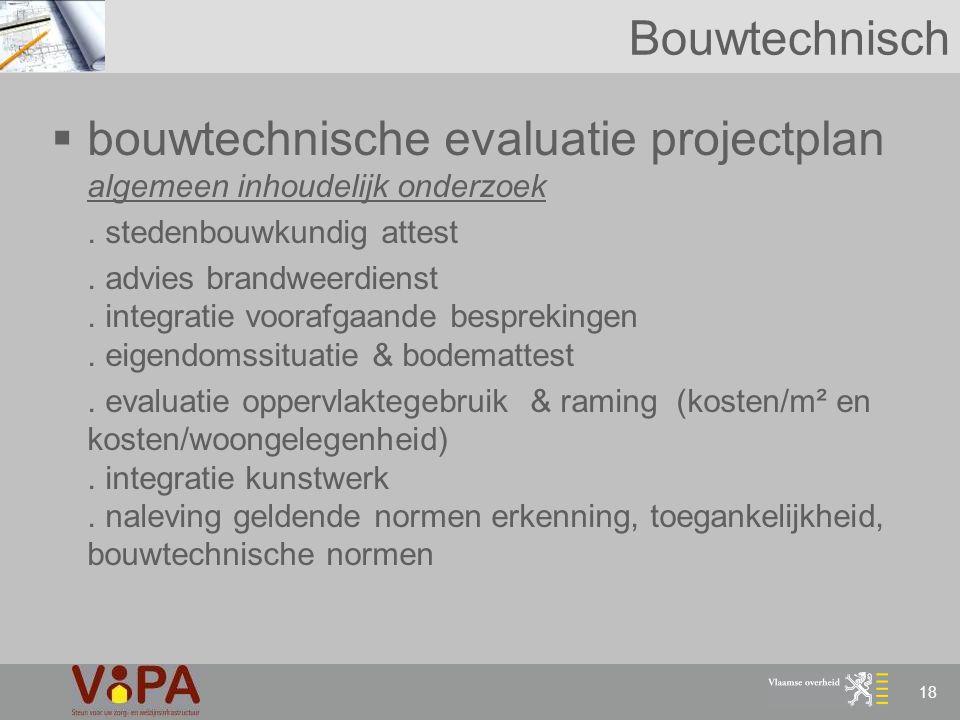 bouwtechnische evaluatie projectplan algemeen inhoudelijk onderzoek