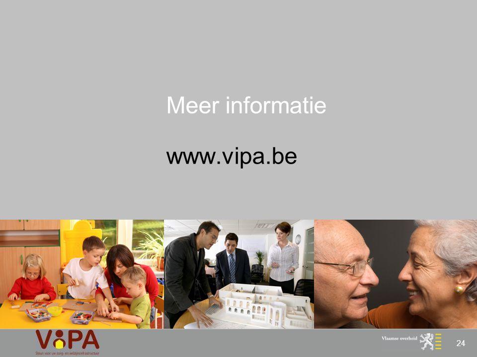 Meer informatie www.vipa.be