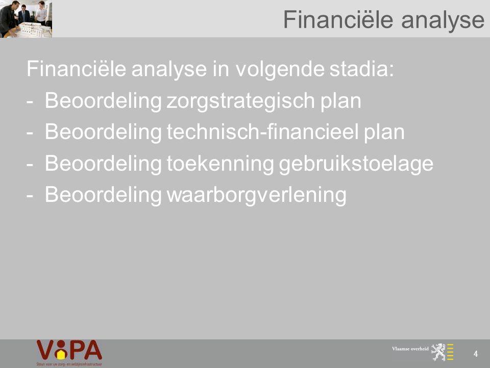 Financiële analyse Financiële analyse in volgende stadia: