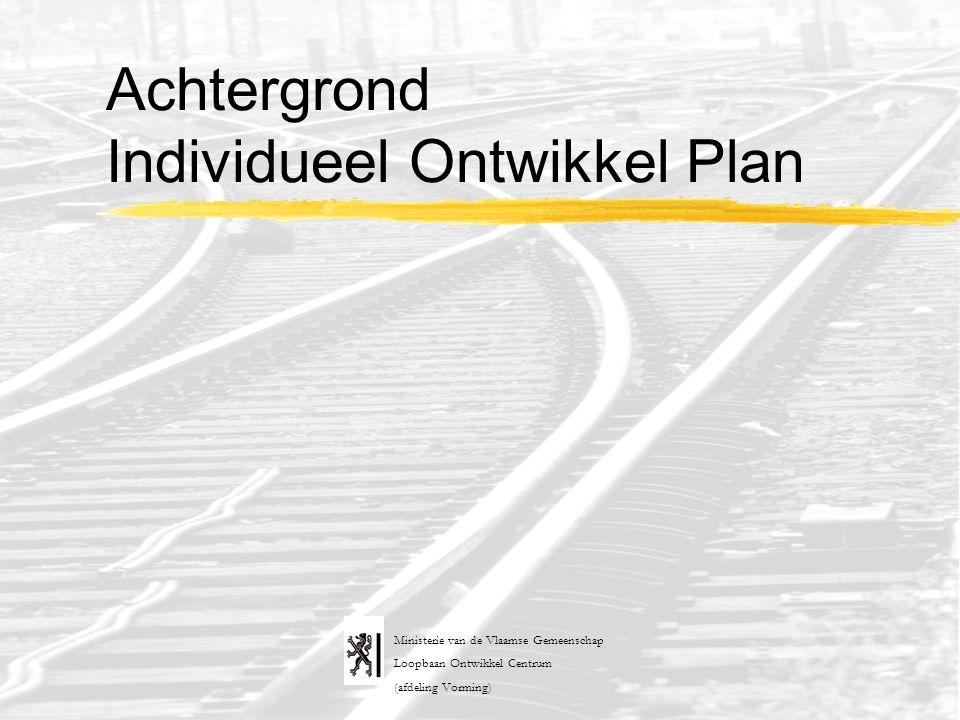 Achtergrond Individueel Ontwikkel Plan