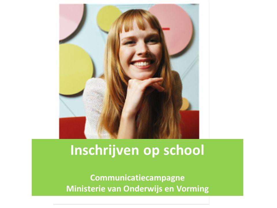 Communicatiecampagne Ministerie van Onderwijs en Vorming