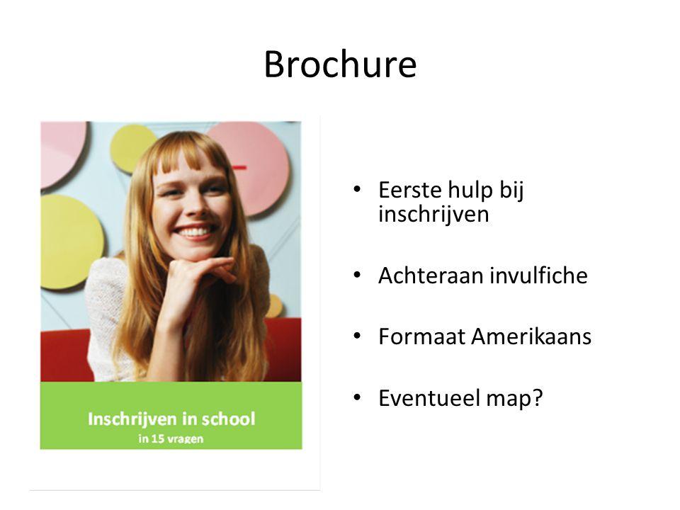 Brochure Eerste hulp bij inschrijven Achteraan invulfiche