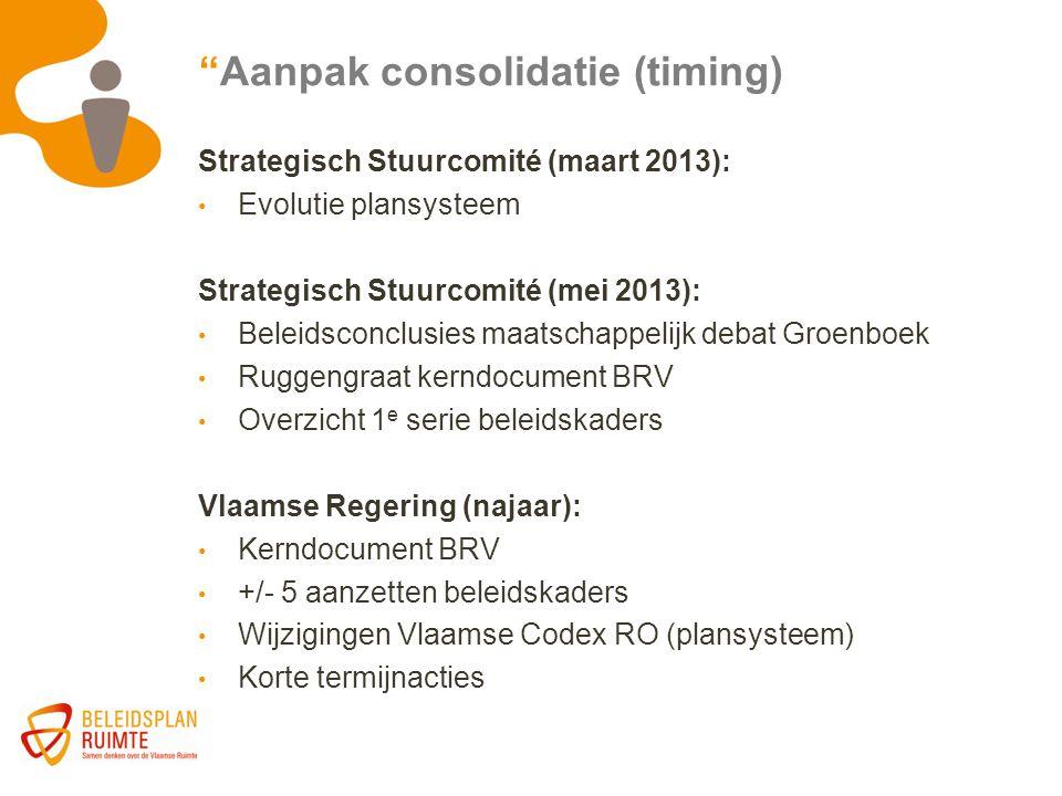 Aanpak consolidatie (timing)