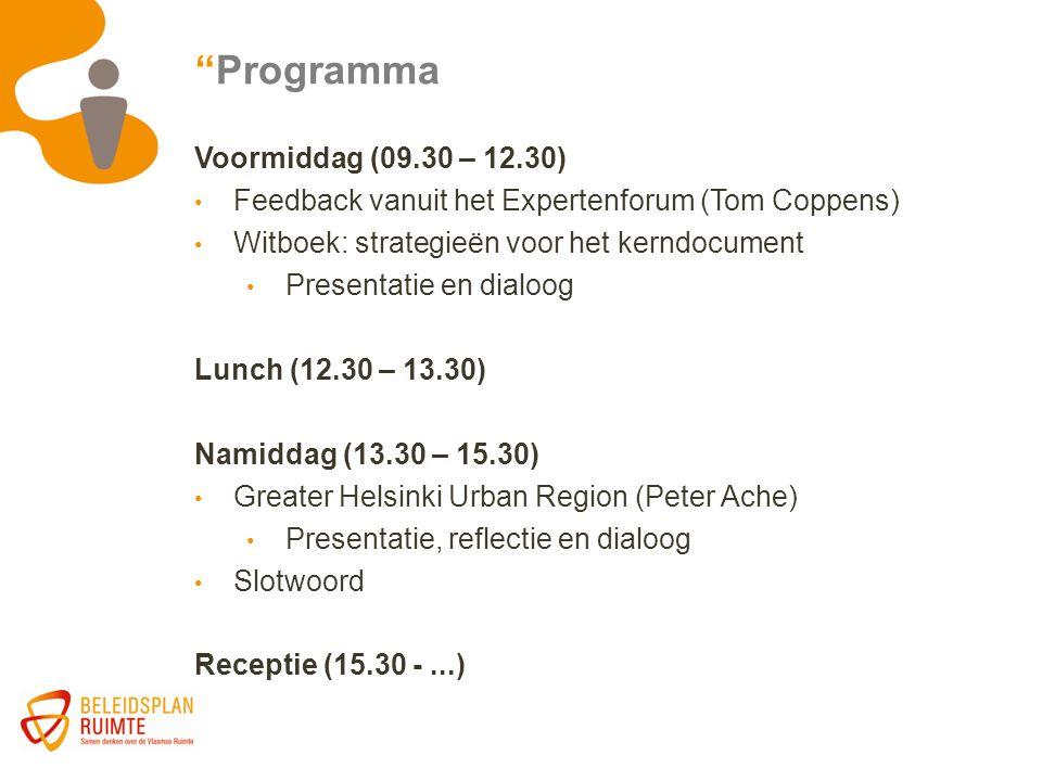 Programma Voormiddag (09.30 – 12.30)