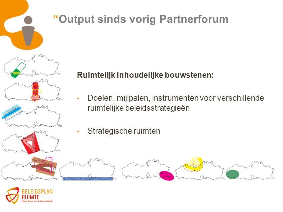 Output sinds vorig Partnerforum