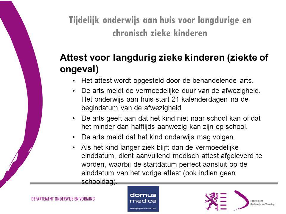 Tijdelijk onderwijs aan huis voor langdurige en chronisch zieke kinderen