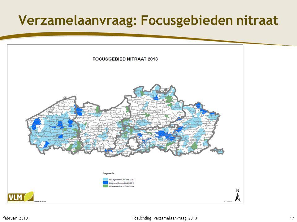 Verzamelaanvraag: Focusgebieden nitraat