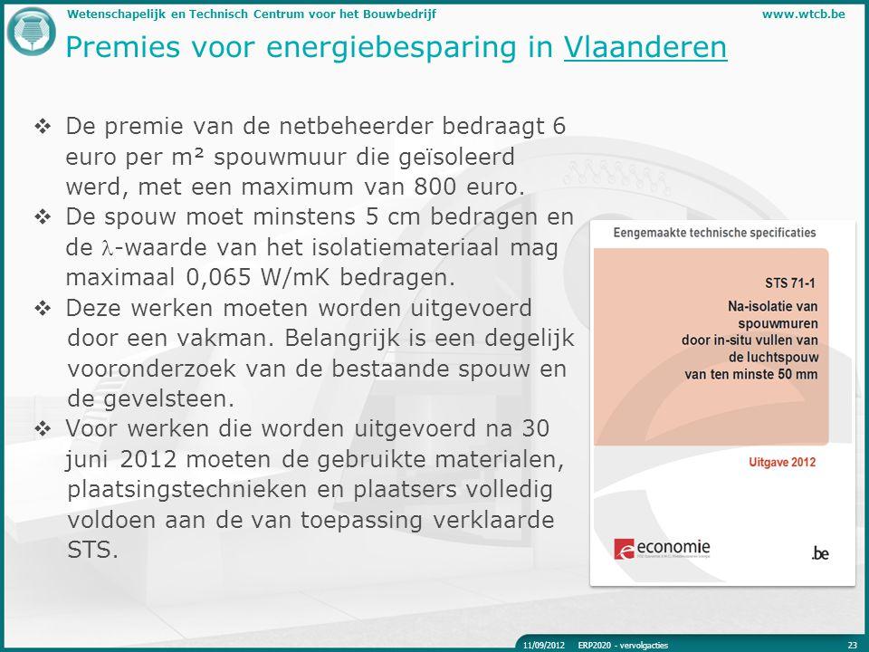 Premies voor energiebesparing in Vlaanderen