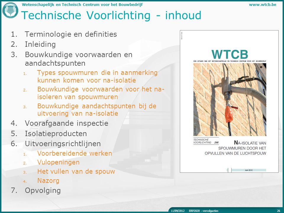 Technische Voorlichting - inhoud