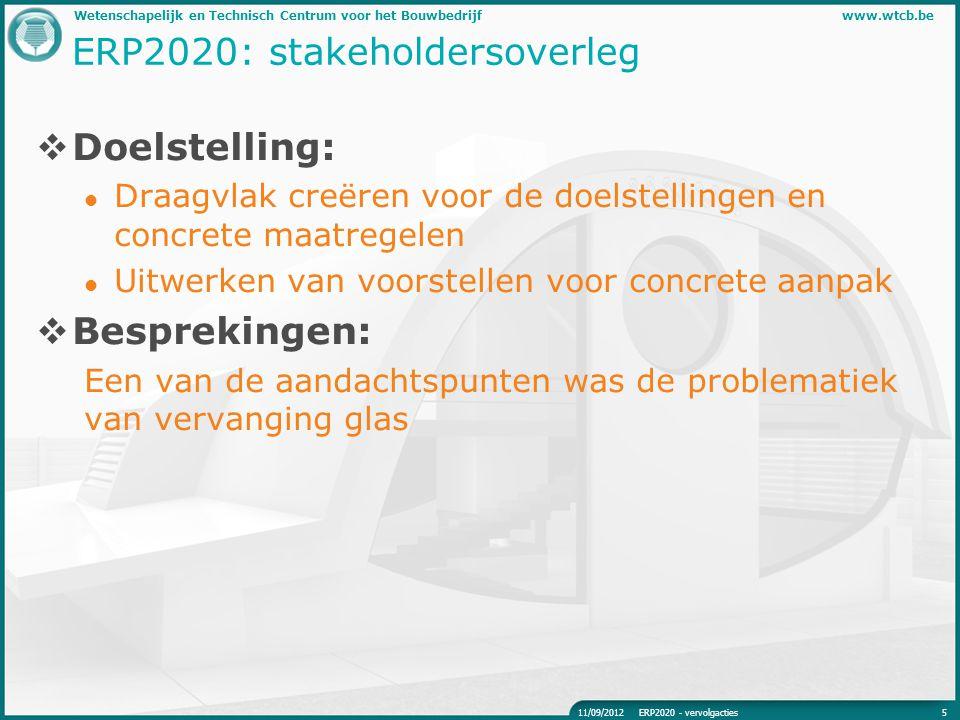 ERP2020: stakeholdersoverleg