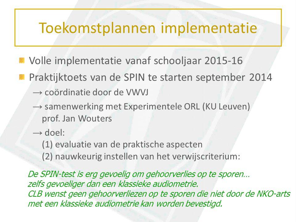 Toekomstplannen implementatie