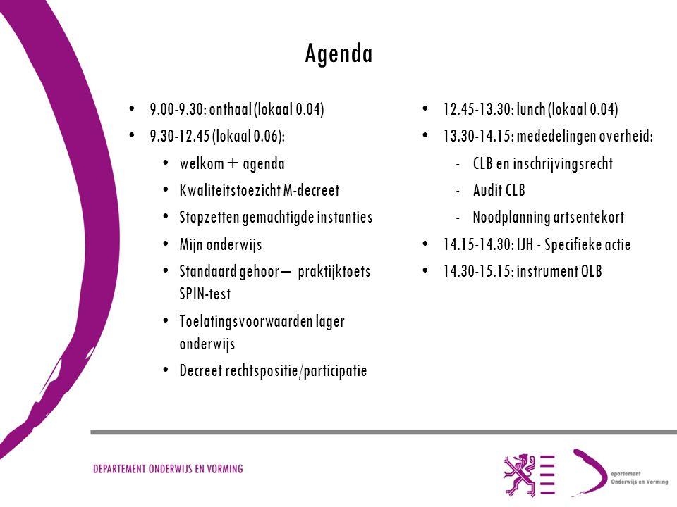 Agenda 9.00-9.30: onthaal (lokaal 0.04) 9.30-12.45 (lokaal 0.06):