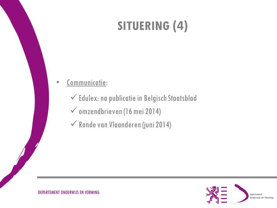 SITUERING (4) Communicatie: