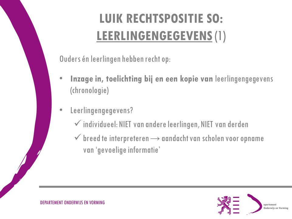LUIK RECHTSPOSITIE SO: LEERLINGENGEGEVENS (1)