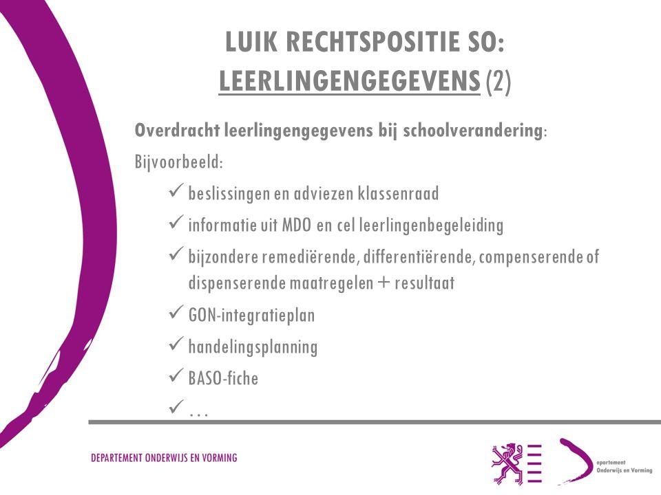 LUIK RECHTSPOSITIE SO: LEERLINGENGEGEVENS (2)