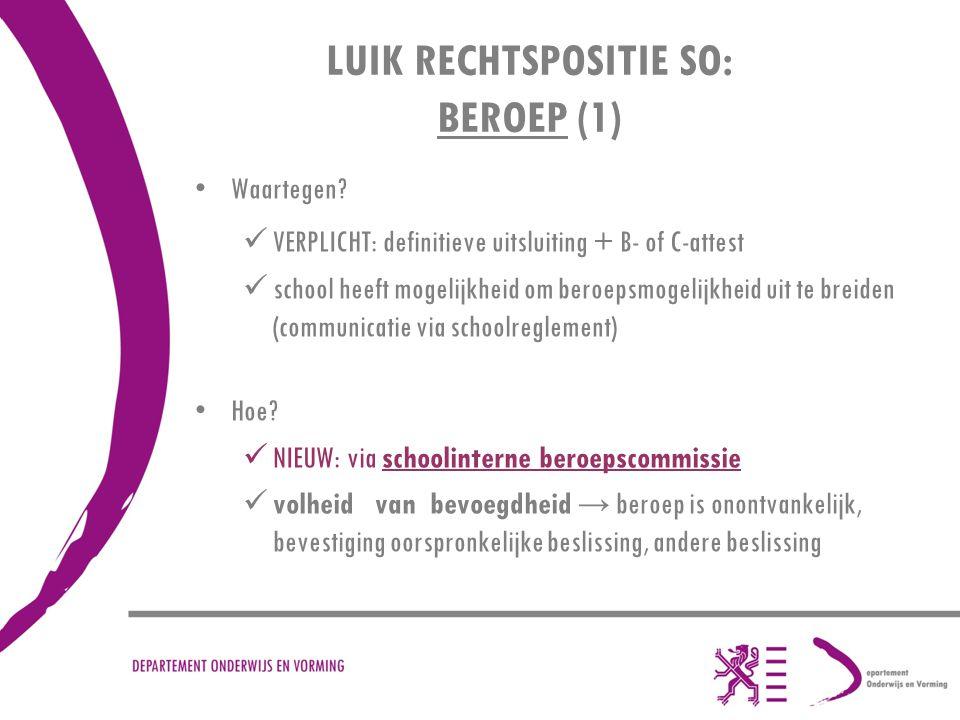LUIK RECHTSPOSITIE SO: BEROEP (1)