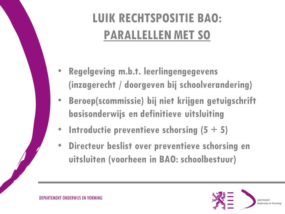 LUIK RECHTSPOSITIE BAO: PARALLELLEN MET SO
