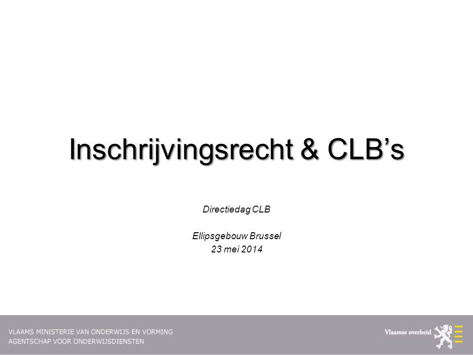 Inschrijvingsrecht & CLB's