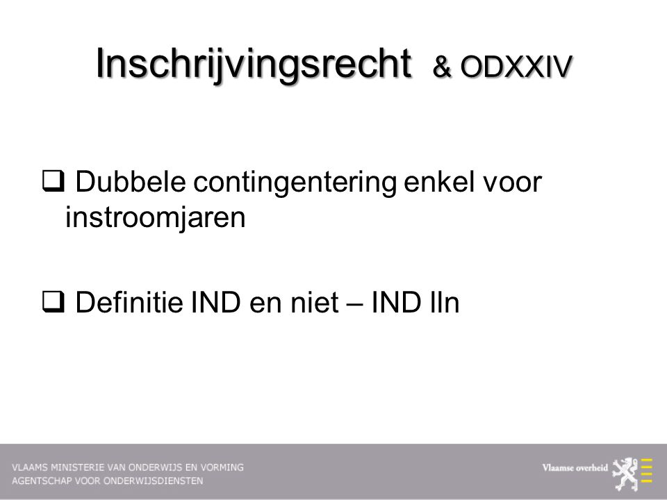 Inschrijvingsrecht & ODXXIV