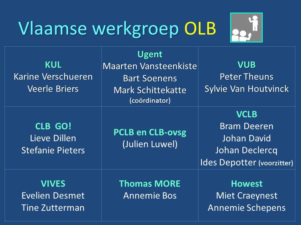 Vlaamse werkgroep OLB KUL Karine Verschueren Veerle Briers Ugent