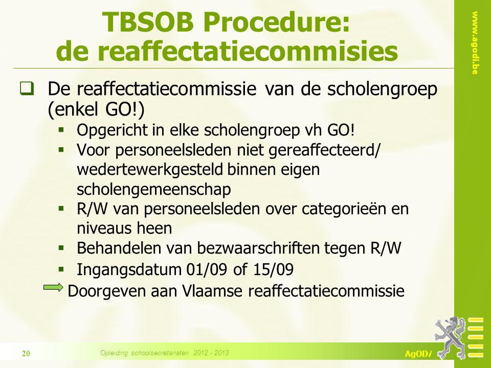 TBSOB Procedure: de reaffectatiecommisies