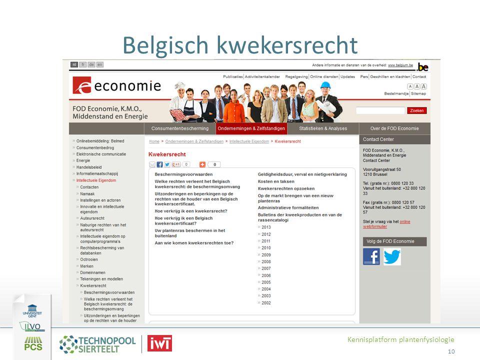 Belgisch kwekersrecht