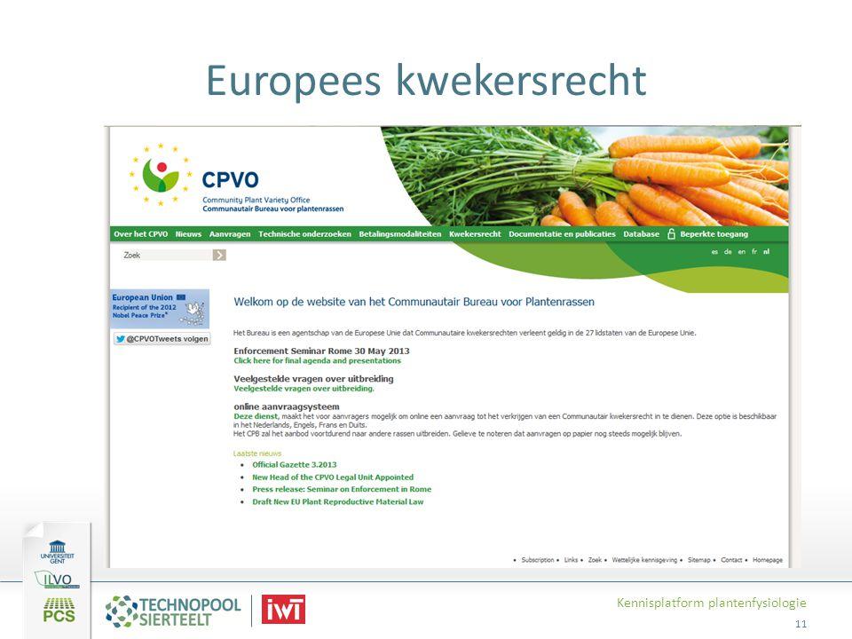 Europees kwekersrecht