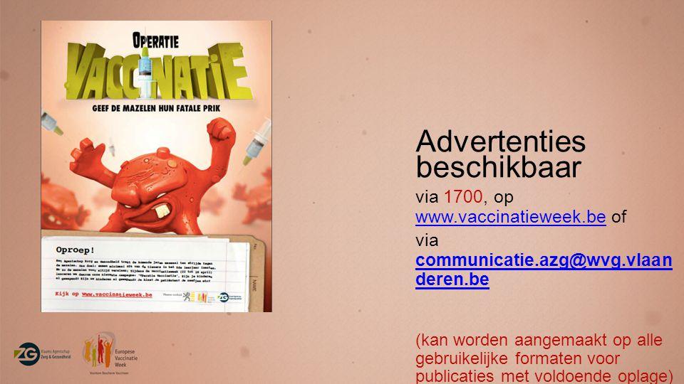 Advertenties beschikbaar