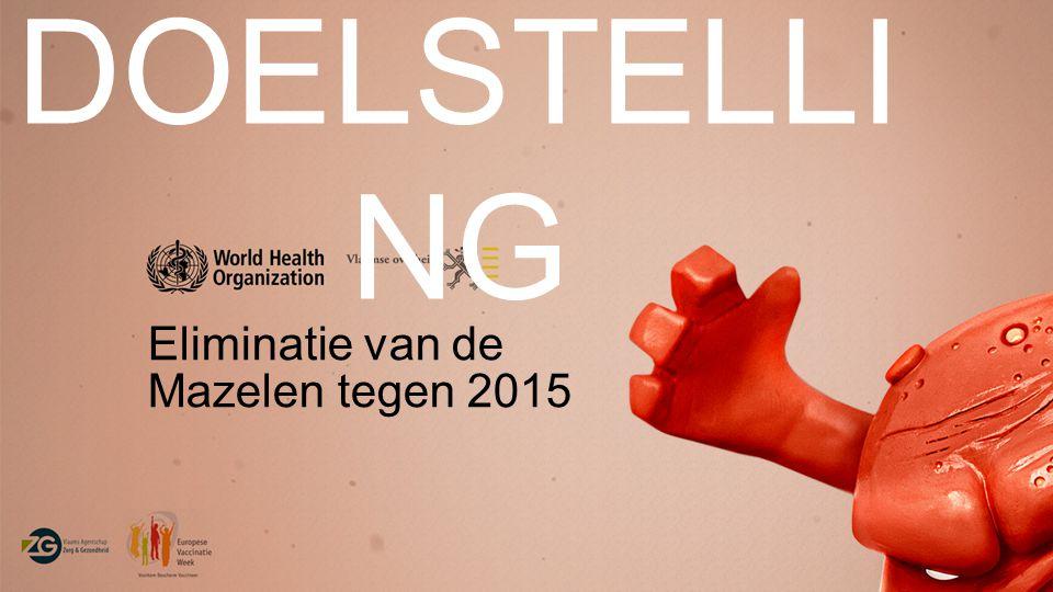 DOELSTELLING Eliminatie van de Mazelen tegen 2015