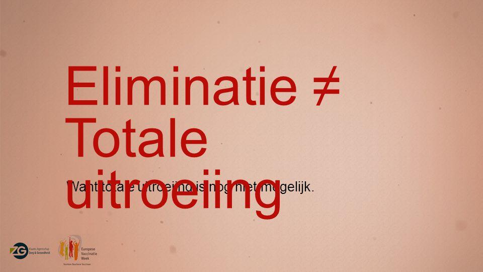 Eliminatie ≠ Totale uitroeiing