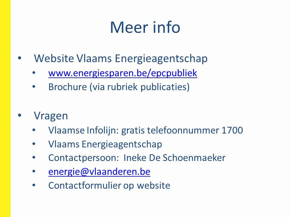 Meer info Website Vlaams Energieagentschap Vragen