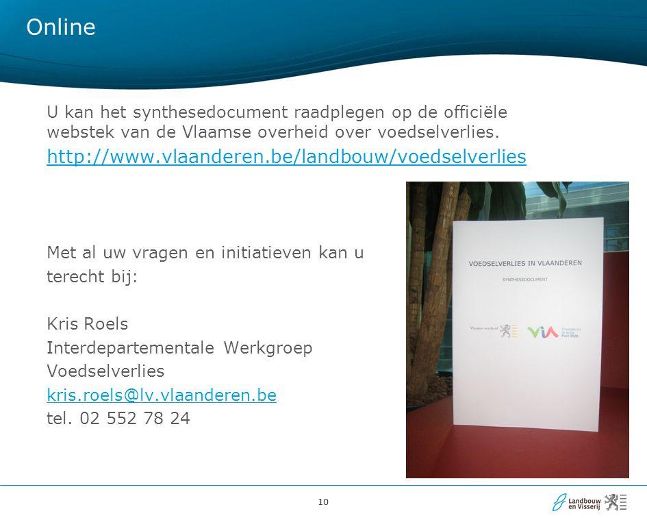 Online http://www.vlaanderen.be/landbouw/voedselverlies